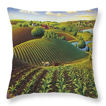 Farming Throw Pillows