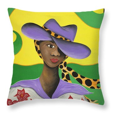 Hat Appeal Throw Pillow by Patricia Sabree