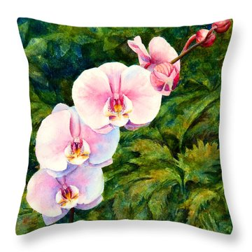 Hawaiian Orchid Throw Pillow