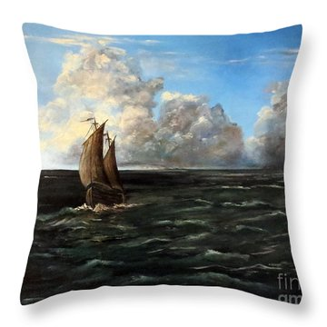 Heading For Shore Throw Pillow by Lee Piper