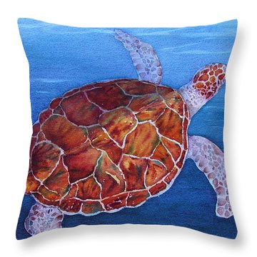 Throw Pillow featuring the painting Heads Up by Judy Mercer