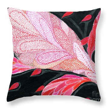 Throw Pillow featuring the drawing Heartpods by Kim Sy Ok