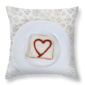 Hearty Toast Throw Pillow by Joana Kruse