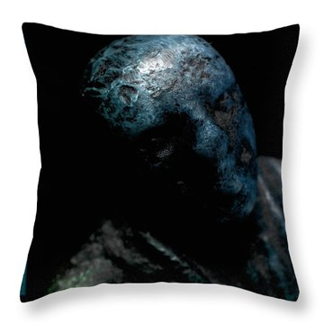 Throw Pillow featuring the photograph Heavy Blues by WB Johnston