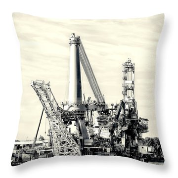 Heavy Lift Vessel Throw Pillow by Hans Engbers