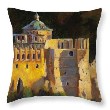 Heidelberg Schloss Throw Pillow by Chris Brandley