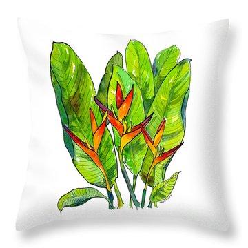 Heliconia Throw Pillow
