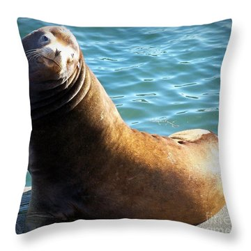 Hello Throw Pillow by Chalet Roome-Rigdon