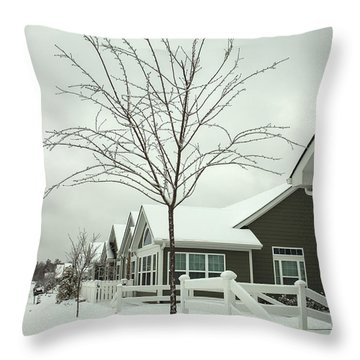 Hello Snow Throw Pillow