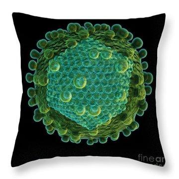 Hepatitis C Virus Throw Pillow