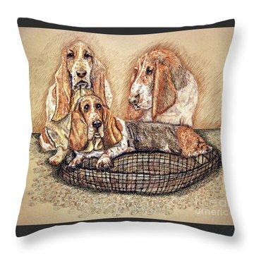 Hess'er Puppies Throw Pillow