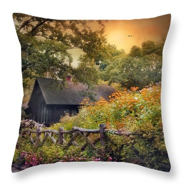 Throw Pillow featuring the photograph Hidden Charm by Jessica Jenney