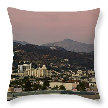 High Angle View Of A City, Beverly Throw Pillow