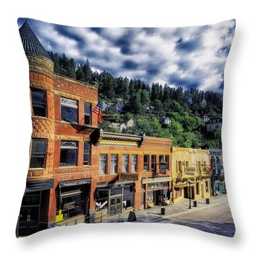 Historic Deadwood Throw Pillow by Mountain Dreams