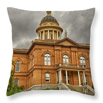 Historic Placer County Courthouse Throw Pillow by Jim Thompson