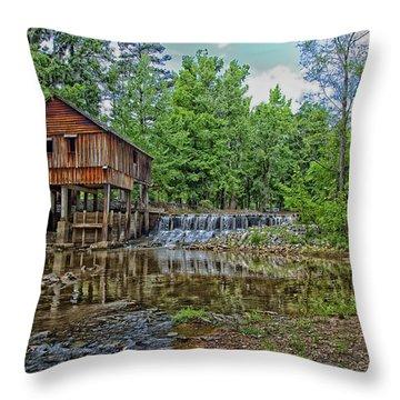 Historic Rikard's Mill In Virginia Throw Pillow