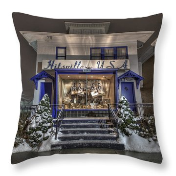 Hitsville Usa Throw Pillow