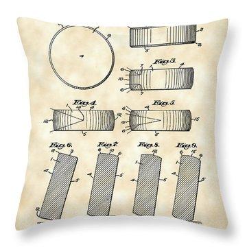 Hockey Puck Patent 1940 - Vintage Throw Pillow