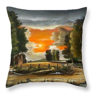 Hoggets Farm Throw Pillow