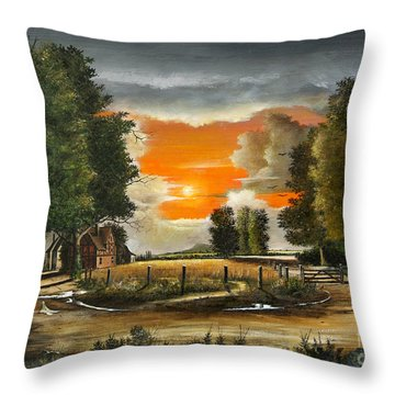 Hoggets Farm Throw Pillow
