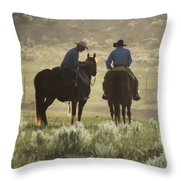 Holding Herd Throw Pillow