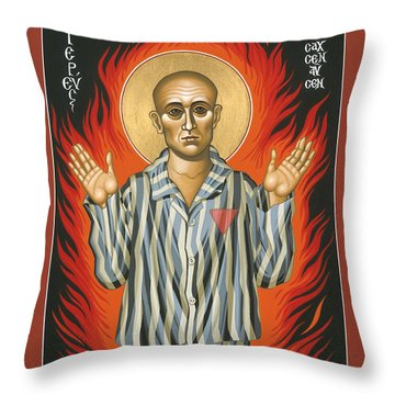 Holy Priest Anonymous One Of Sachsenhausen 013 Throw Pillow