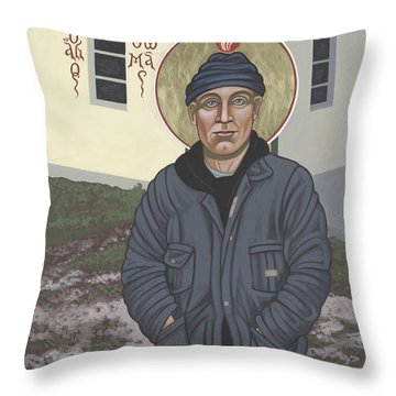 Holy World Evangelist Thomas Merton 267 Throw Pillow