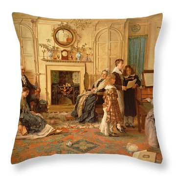 Home Sweet Home Throw Pillow by Walter Dendy Sadler