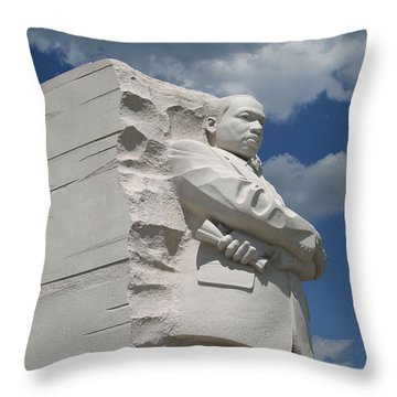 Throw Pillow featuring the photograph Honoring Martin Luther King by Cora Wandel