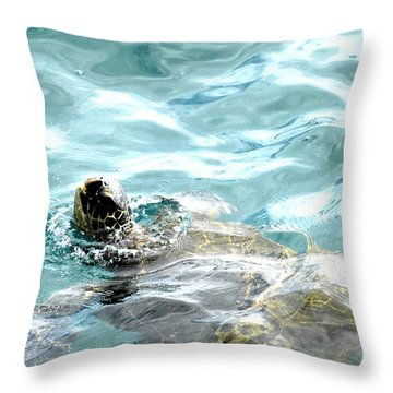 Kamakahonu, The Eye Of The Honu  Throw Pillow