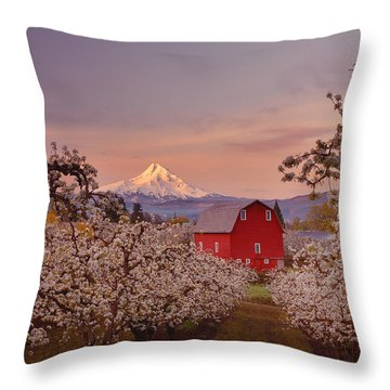 Hood River Sunrise Throw Pillow