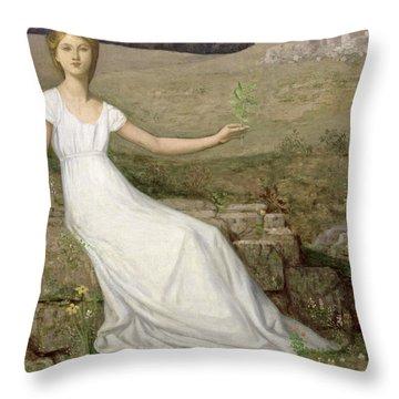 Hope Throw Pillow by Pierre Puvis de Chavannes