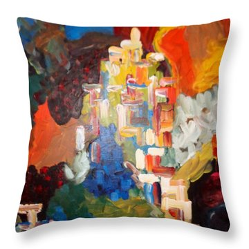 Throw Pillow featuring the painting Hope by Ray Khalife