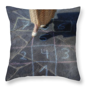 Hopscotch Throw Pillow by Joana Kruse
