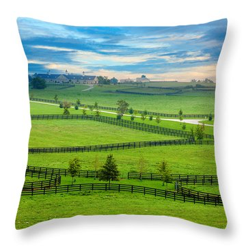 Horse Country Throw Pillow by Alexey Stiop