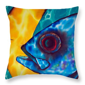 Horse -eyed Jack Throw Pillow by Daniel Jean-Baptiste