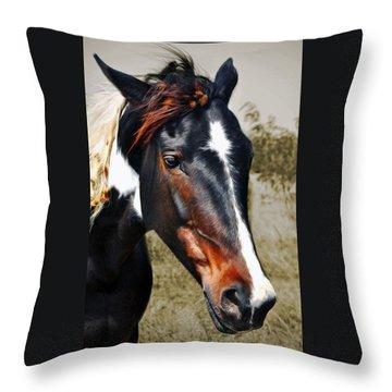 Throw Pillow featuring the photograph Horse by Savannah Gibbs