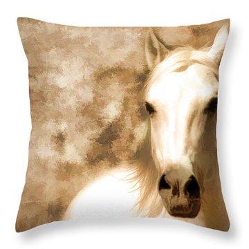 Horse Whisper Throw Pillow by Athena Mckinzie