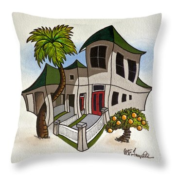 House Caricatures For Sale Throw Pillow by Walt Foegelle