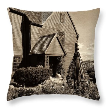 House Of The Seven Gables Throw Pillow by Lourry Legarde