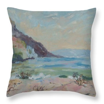 Hout Bay Beach Throw Pillow by Elinor Fletcher