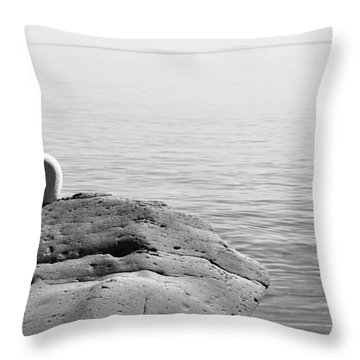 How Small We Are Throw Pillow