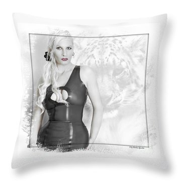 Human And Animal Throw Pillow