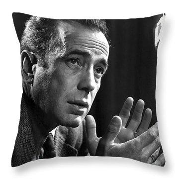 Humphrey Bogart Portrait 2 Karsh Photo Circa 1954-2014 Throw Pillow