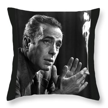 Humphrey Bogart Portrait 2 Karsh Photo Circa 1954-2014 Throw Pillow by David Lee Guss