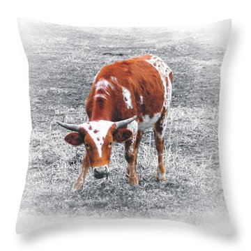 Hunkered Down Throw Pillow