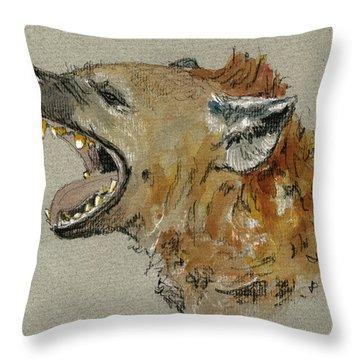 Hyena Throw Pillows