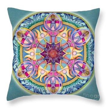 I Am Enough Mandala Throw Pillow