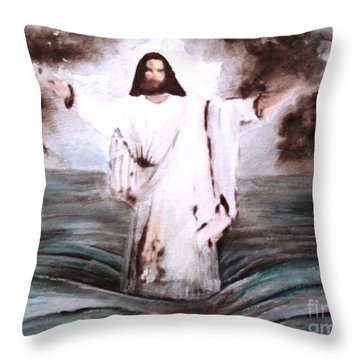 Throw Pillow featuring the painting I Am by Hazel Holland