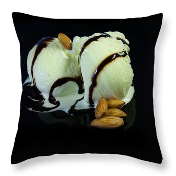Ice Cream Cup Throw Pillow
